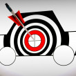Stock Photo: Car Target Shows Excellence And Accuracy