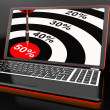 Royalty-Free Stock Photo: 50Percent On Laptop Showing Big Promotions
