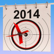 Stock Photo: 2014 Calendar Means Planning Annual AgendSchedule