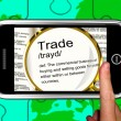 Trade Definition On Smartphone Showing Exportation - Stock Photo