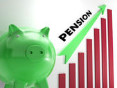 Raising Pension Chart Shows Personal Growth — Stock Photo