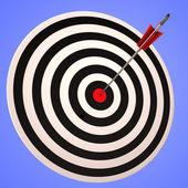 公牛眼睛目标显示精确战略制胜 — 图库照片