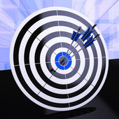 Triple Dart Shows Winning Strategy And Excellence — Stock Photo