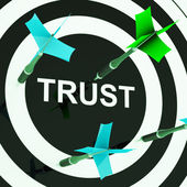 Trust On Dartboard Showing Mistrust — Stock Photo