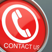 Contact Us Button Shows Helpdesk — Stock Photo