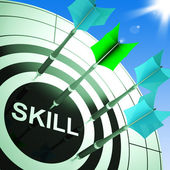 Skill On Dartboard Showing Expertise — Stock Photo