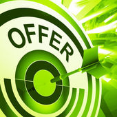 Offer Target Means Discounts Reductions Or Sales — Stock Photo