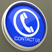 Contact Us Button Shows Assistance — Stock Photo