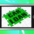 Car LoOn Smartphone Shows Car Rent — Stock Photo #22159213
