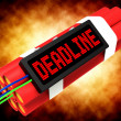 Stock Photo: Deadline On Dynamite Showing Pressure And Urgency