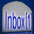 Inbox One Sign Shows New Messages — Stock Photo