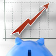 Stock Photo: Growing Chart Shows Business Success