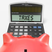 Taxes On Calculator Shows HMRC Return Due — Stock Photo