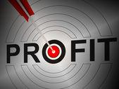 Profit montre la croissance financière, gagner des revenus — Photo