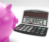 Insurance Calculator Shows Protection Of Home Investment — Stock Photo