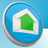 E-mail-symbol zeigt ausgehende e-mail — Stockfoto