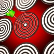 Stock Photo: Bulls eye Target Shows Focused Competitive Strategy