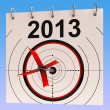 Stock Photo: 2013 Calendar Means Planning Annual AgendSchedule