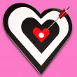 Heart Target Shows Passion, Romance And Emotion — 图库照片 #22262755