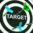 Target On Dartboard Shows Efficient Shooting — Stock Photo