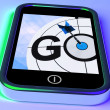 Go On Smartphone Shows Target Beginnings — Stockfoto