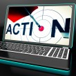 Stock Photo: Action On Laptop Shows Motivation