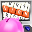 Stock Photo: Risk Keys On Monitor Showing Investment Risks