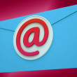 Stock Photo: Email Envelope Shows Global Correspondence Post Online