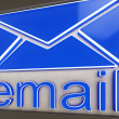 Email Sign Button Shows Online Correspondence — Stok Fotoğraf #22267643
