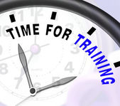 Time For Training Message Showing Coaching And Instructing — Stock Photo