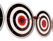 Triple Dart Shows Successful Performance And Result — Stock Photo