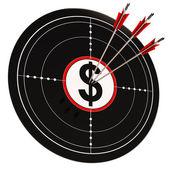 Dollar Target Shows Bucks Cash And Wealth — Stock Photo