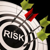 Risk On Dartboard Shows Risky Business — Stock Photo