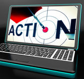 Action On Laptop Shows Motivation — Stock Photo