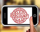 Remise sur smartphone montre objets publicitaires — Photo