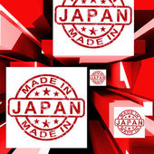 Made In Japan On Cubes Showing Japanese Industry — Stock Photo