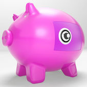 Safe Piggy Shows Secure Savings Locked Closed — Stock Photo