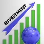 Raising Investment Chart Showing Increased Profit — Stock Photo
