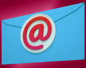 Email Envelope Shows Global Correspondence Post Online — Stock Photo