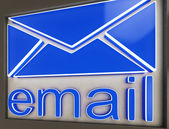 Email Sign Button Shows Online Correspondence — Stock Photo