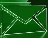 Envelopes On Background Showing Electronic Mailbox — Stock Photo