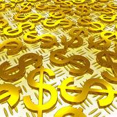 美元符号于地板上显示了美国的投资 — 图库照片