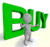 买字母作为标志为商务和采购 — 图库照片