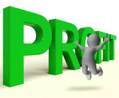 Profit Word Represents Market And Trade Earnings — Stock Photo