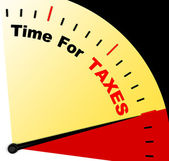 Time For Taxes Message Representing Taxation Due — Foto de Stock