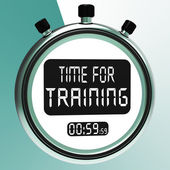 Time For Training Message Meaning Coaching And Instructing — Foto Stock