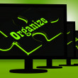 Organize On Monitors Showing Managing — Stock Photo #22270773