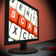 Stock Photo: Scam On Monitor Showing Schemes