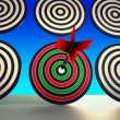 Stock Photo: Target Winner Shows Skill, Performance And Accuracy