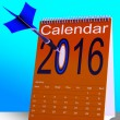 2016 Schedule Calendar Shows Future Business Targets - Stock Photo